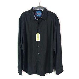 NWT Robert Graham Woven Textured Button Up Shirt